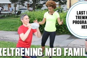 Sirkeltrening med familien